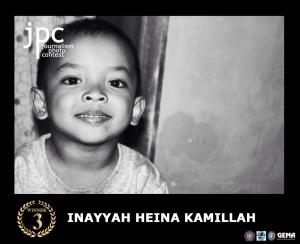 Juara Ketiga Nama : Inayyah Heina Kamillah Asal :Lumajang Judul Foto : (Senyuman seorang Anak adalah semangat terbesar orangtuanya)