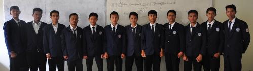 Kandidat, dari kiri: Redo, Yudi, Erwin, Dhaniar, Ajie, Rizky, Try, Yogi, Taufik, Dendy, Fahmi, Praninto