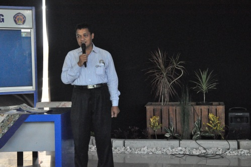 Ketua Jurusan Teknik Sipil, Drs. Susapto, MT memberikan sambutan saat pembukaan acara (09/06).
