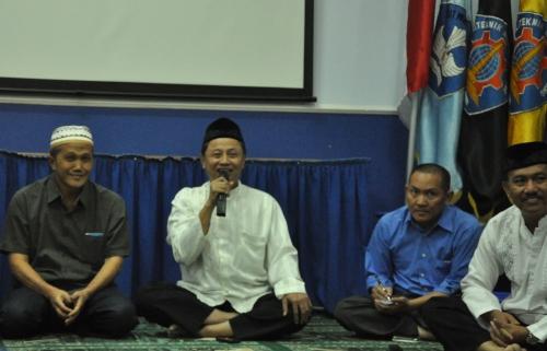 Sambutan Ir.Tundung Subali Patma selaku Direktur Politeknik Negeri Malang dalam Buka Bersama di Gedung Pusat Lantai dua (08/07).