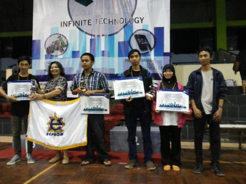 Pemenang turnamen E-TIME 2015 di Politeknik Negeri Jakarta (PNJ)