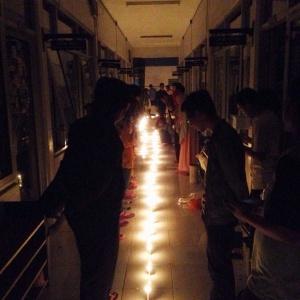 Kegiatan malam 1000 lilin pada Minggu (29/03) di Gedung AS lantai 2