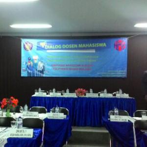 Suasana ruang Teleconference Gedung AH Polinema sesaat sebelum acara DDM dimulai.