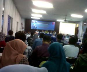 Kondisi peserta di dalam ruang Teleconference Gedung AH Polinema saat kegiatan DDM berlangsung.