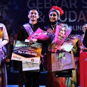 Boby Rizaldo Agung Putra dari Jurusan Teknik Informatika dan Shella Amalia dari Jurusan Administrasi Niaga.