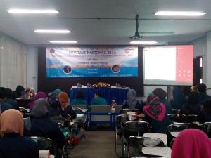 Suasan Seminar Nasional yang berlangsung di Auditorium Gedung AH Polinema